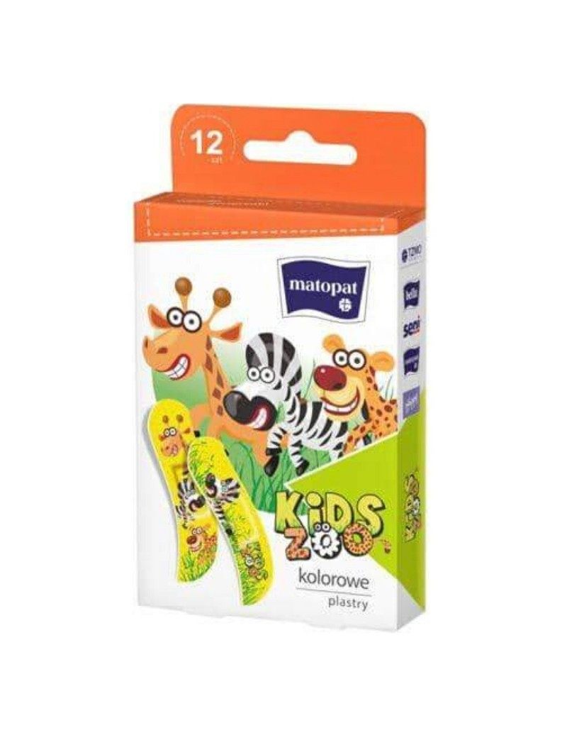 Pansements Matopat Happy kids zoo boite de 12